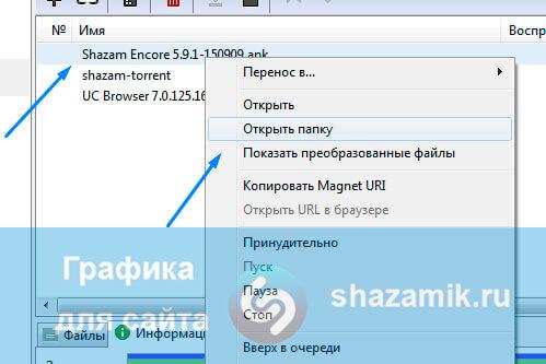 Просмотр загруженных файлов