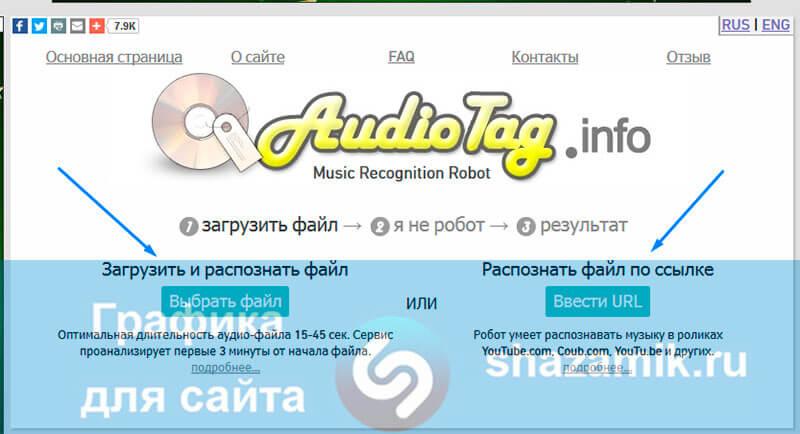 Онлайн сервис для распознавания музыки